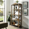 This item: Rustic Oak Bookcase