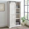 This item: Barn Door Brushed White Storage Cabinet
