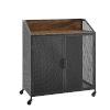 This item: Dark Walnut and Black Bar Cabinet
