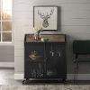 This item: Rustic Oak Bar Cabinet