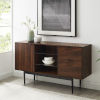 This item: Astor Dark Walnut and Black Sideboard with Two Drawer