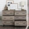 This item: Grey Wash Modern Wood 6-Drawer Buffet