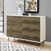 This item: White and Rustic Oak Modern Wood 6-Drawer Buffet - White/Rustic Oak