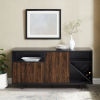 This item: Rogan Solid Black and Dark Walnut Sideboard with Three Door