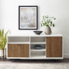 This item: Rogan Solid White and English Oak Sideboard with Three Door