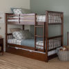 This item: Twin Walnut 44-Inch Twin Bunk Bed with Trundle