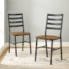 This item: Barnwood and Black Slat Back Dining Chair, Set of 2