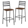 This item: Dark Walnut and Black Slat Back Counter Stool, Set of 2