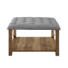 This item: Gray 30-Inch Tufted Ottoman