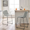 This item: Gray and Black Counter Stool, Set of 2
