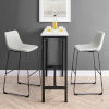 This item: Gray and Black Bar Stool, Set of 2