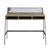 This item: Black and Reclaimed Barnwood 42-Inch Writing Desk