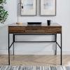 This item: Lilian Dark Walnut and Black Storage Desk with Tablet Holder
