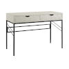 This item: Vetti Off White and Black Two Drawer Desk