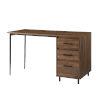 This item: Ingrid Dark Walnut Three Drawer Desk