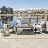 This item: Gray Wash 24-Inch Four-Piece Classic Outdoor Chat Set