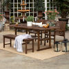 This item: Dark Brown 35-Inch Four-Piece Extendable Outdoor Dining Set