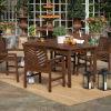 This item: Dark Brown 32-Inch Five-Piece Chevron Outdoor Dining Set