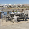 This item: Gray Wash 32-Inch Six-Piece Simple Outdoor Dining Set