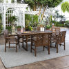 This item: Dark Brown 35-Inch Seven-Piece Extendable Outdoor Dining Set