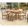 This item: Brown Patio Dining Table Set , 7 Piece