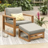 This item: Brown Patio Chair and Ottoman