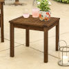This item: Dark Brown Patio Side Table