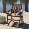 This item: Brown 35-Inch Outdoor Chevron Rocking Chair
