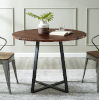 This item: Dark Walnut and Black Round Dining Table