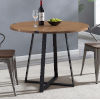 This item: English Oak and Black Round Dining Table
