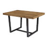 This item: Reclaimed Barnwood 52-Inch Dining Table