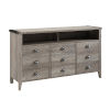 This item: Gray Wash 52-Inch TV Console
