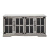 This item: Gray Wash 58-Inch Four-Door TV Console