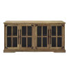 This item: Reclaimed Barnwood 58-Inch Four-Door TV Console
