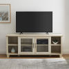 This item: Columbus White Oak TV Stand with Middle Door