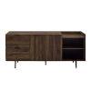 This item: Dark Walnut 58-Inch Storage TV Stand