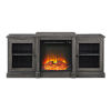 This item: Slate Gray 60-Inch Classic Tiered Top Fireplace TV Console