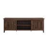 This item: Dark Walnut 70-Inch Wood TV Stand