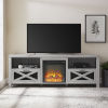 This item: Abilene Stone Gray Fireplace TV Stand