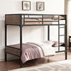 This item: Twin over Twin Rustic Wood Bunk Bed - Brown