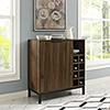 This item: Bar Cabinet with Wine Storage - Dark Walnut