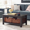 This item: 40-inch Wood Storage Coffee Table with Totes - Espresso