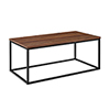This item: 42-Inch Mixed Material Coffee Table - Dark Walnut