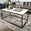 This item: 42-Inch Mixed Material Coffee Table - Marble