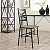 This item: Metal X-Back Wood Dining Chair, Set of 2, Driftwood