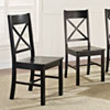 This item: Black Wood Dining Chairs, Set of 2