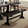 This item: Antique Black Wood Bench