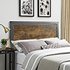 This item: Queen Size Industrial Wood and Metal Panel Headboard - Brown