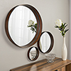 This item: Banded Round Copper Mirrors - Set of 3