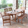 This item: 6-Piece Brown Acacia Patio Dining Set with Cushions